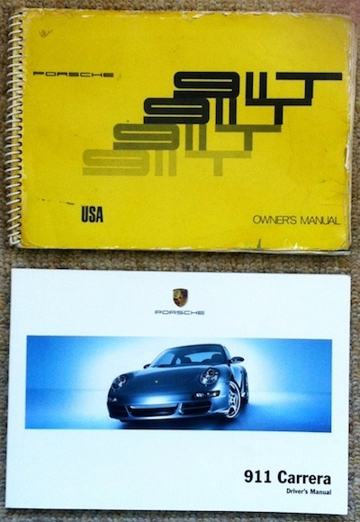 Porsche 911 owner's manual – old and new