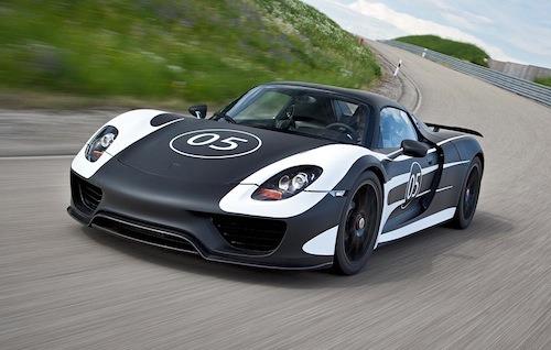 Porsche 918 Spyder on test