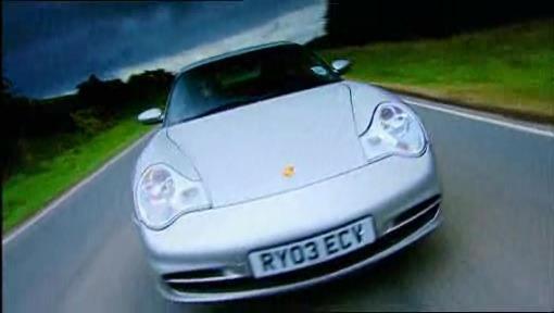Top Gear drives the Porsche 996 Carrera on Pendine Sands