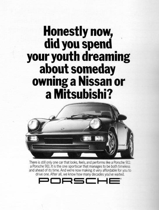 Classic Porsche advertising