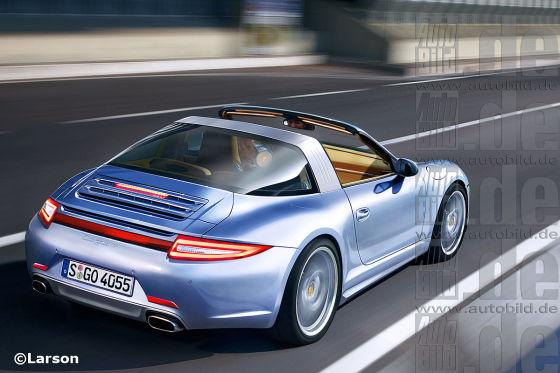 The new Porsche 911 Targa