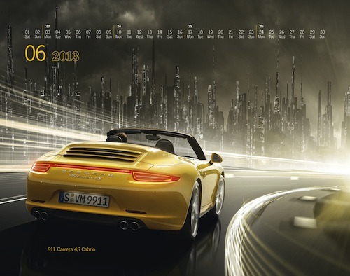 Porsche's 2013 calendar