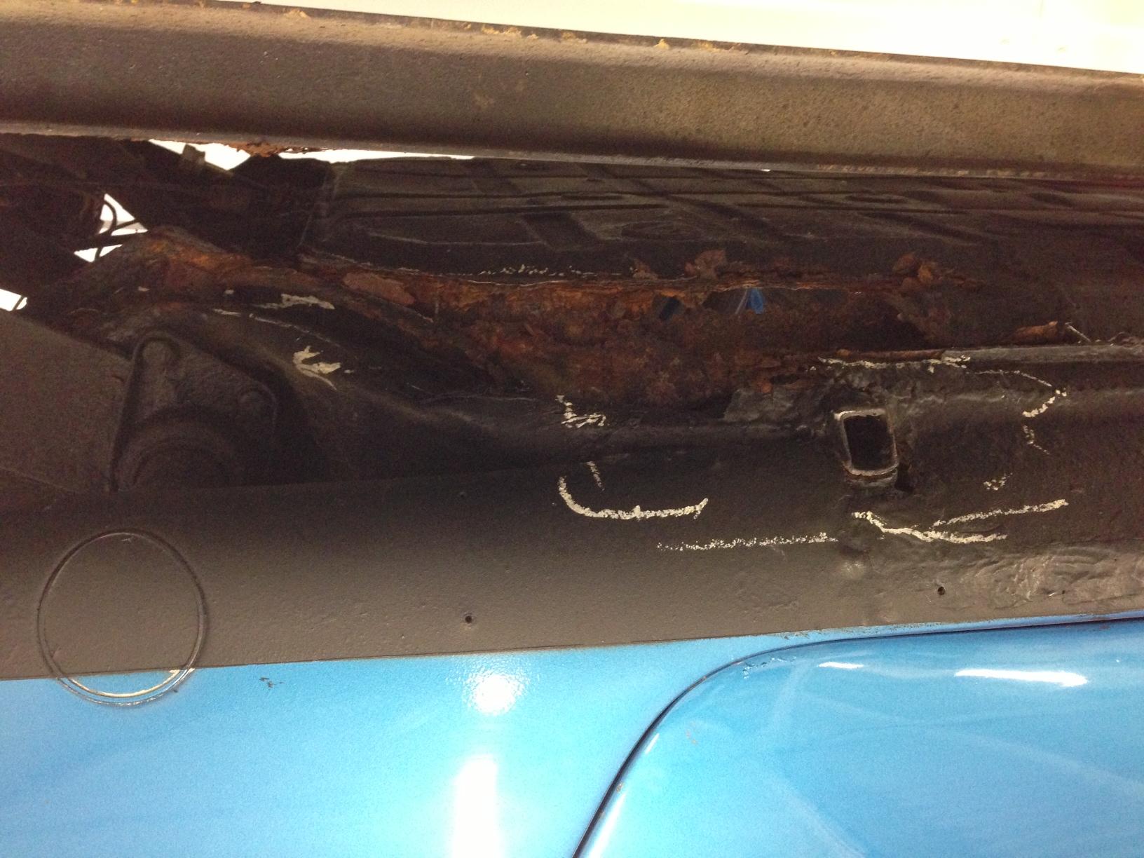 Old Porsche 911s rust