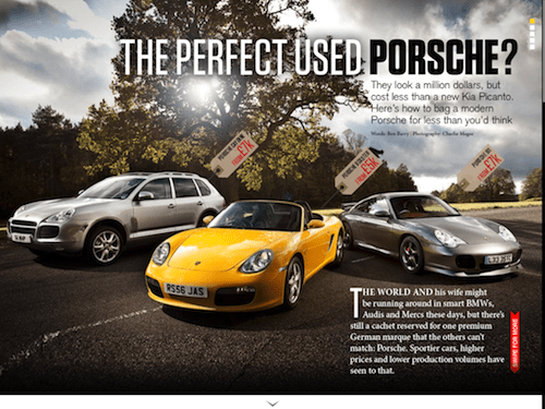 Car Magazine's 'First Porsche' feature