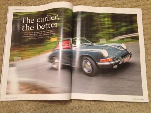 Early Porsche 911s in Octane magazine