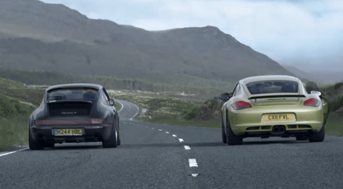 Porsche 964 vs Cayman R – full video