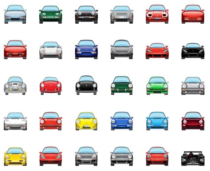 Porsche emojis for iOS10's iMessages
