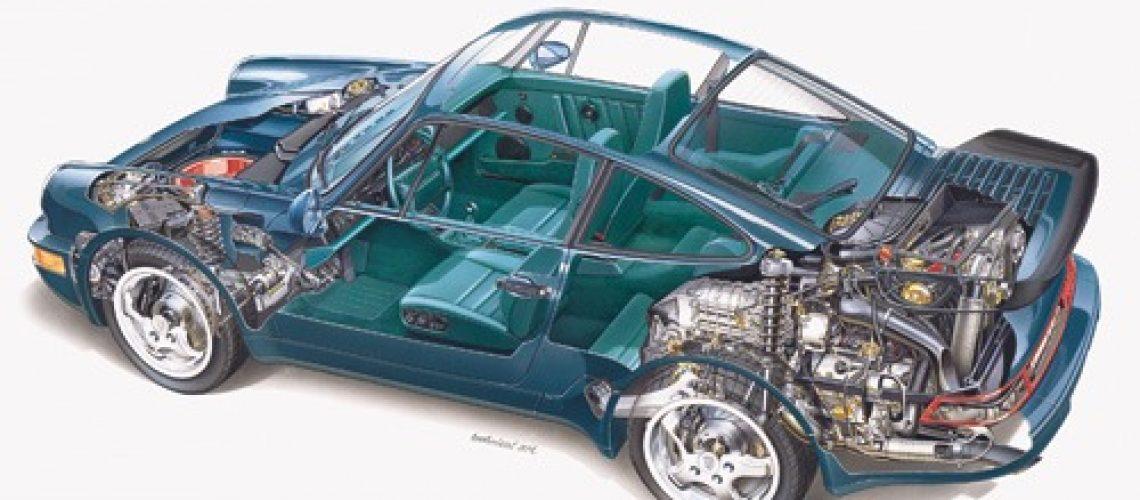 964 Turbo cutaway