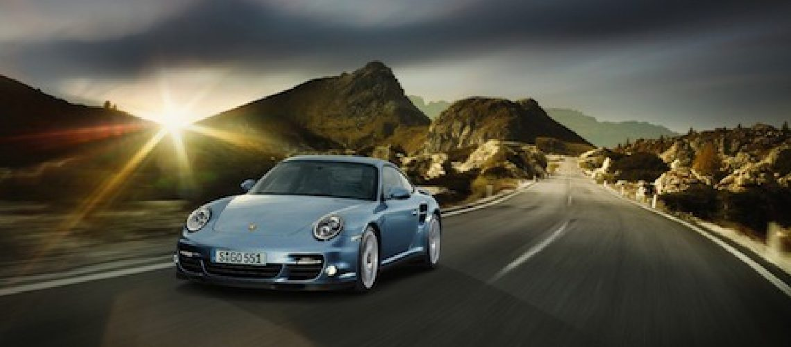 The Porsche 997 Turbo S goes from 0-62mph in just 3.3sec