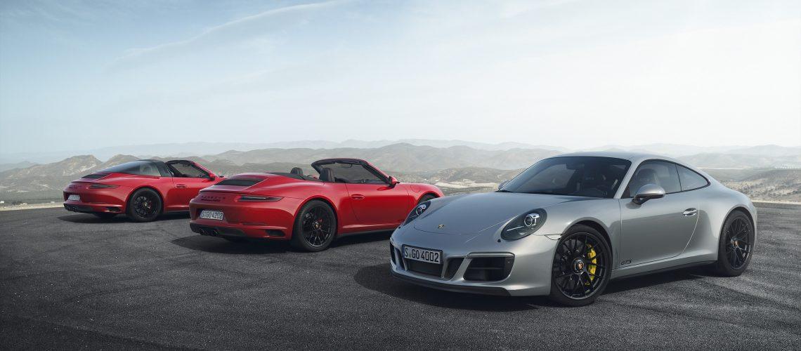 911 Targa 4 GTS, 911 Carrera 4 GTS Cabriolet und 911 Carrera 4 GTS