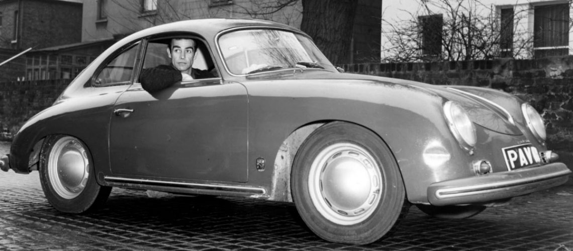 Sean-Connery-in-his-Porsche-356-in-Edinburgh-in-1964